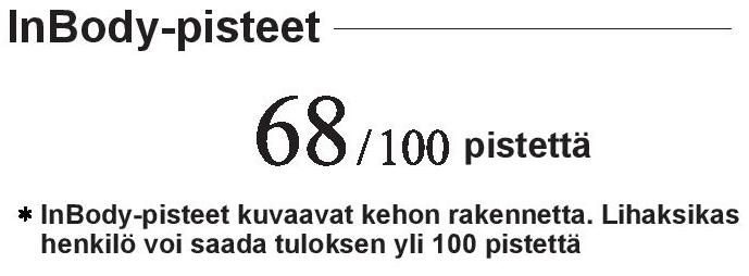 InBody-pisteet 570